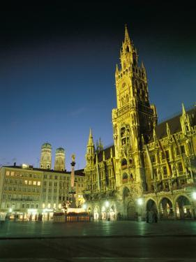 The Marienplatz at Night by Taylor S. Kennedy