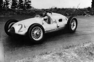 Tazio Nuvolari Driving a 3 Litre Auto Union in a Grand Prix, 1939