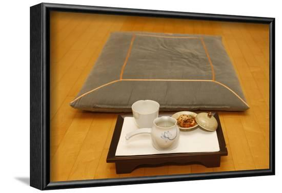 Tea ceremony in a Buddhist temple, Seoul, South Korea-Godong-Framed Photographic Print