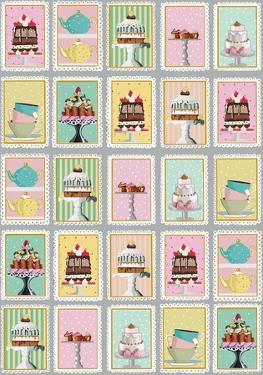 Tea Time - Vintage Style Italian Poster Collage