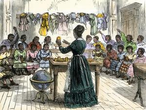 "Teaching Objects to Children in a ""colored School,"" New York City, 1870"
