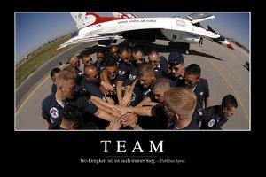 Team: Motivationsposter Mit Inspirierendem Zitat