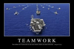 Teamwork: Motivationsposter Mit Inspirierendem Zitat