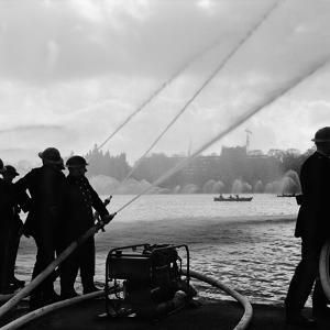 Auxiliary Fire Service exercise in Hyde Park, 1957 by Ted Heanley M.B.E. D.F.C.