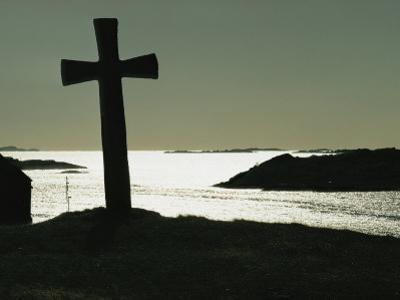 11th-Century Stone Cross off the West Coast of Kvitsoy, Norway
