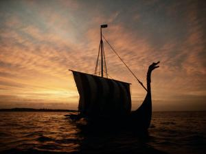 Viking Ship Replica by Ted Spiegel