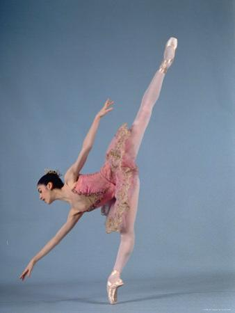 "American Ballet Theater Ballerina Paloma Herrera in Graceful Move Ballet ""Themes and Variations"""
