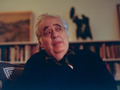 Author Harold Bloom at Home in His Apartment