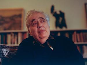 Author Harold Bloom at Home in His Apartment by Ted Thai