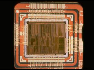 Close Up of the Internal Structure of an Intel Pentium Processor with MMX Technology by Ted Thai