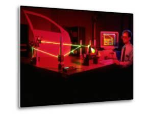 Engineer Using Laser Technology to Analyze Vehicle Vibrations at Ford Advanced Engineering Center by Ted Thai