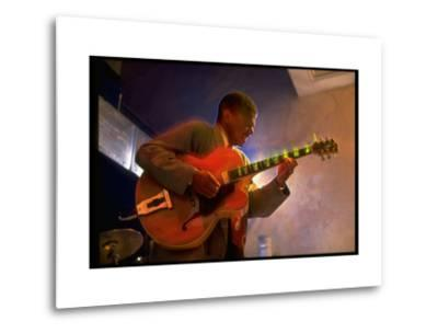 Guitarist Mark Whitfield Playing Large Guitar at MK's