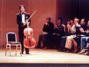 "Master Cellist Yo-Yo Ma with Stradivarius Cello Receiving Applause after performing ""Cello Suites"" by Ted Thai"
