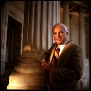 Senator John McCain at US Capitol by Ted Thai