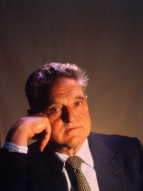 Soros Fund Management President George Soros, Hungarian-Born American Financier by Ted Thai