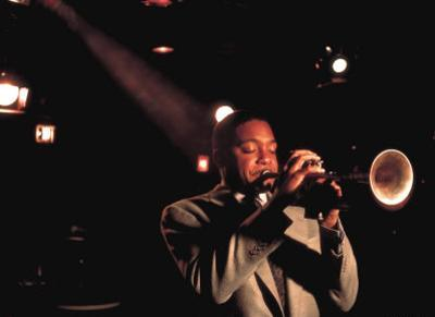 Trumpeter Wynton Marsalis Playing at the Village Vanguard Jazz Club