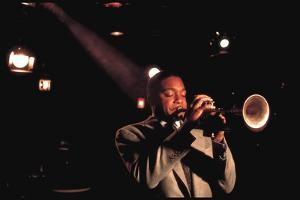 Trumpeter Wynton Marsalis Playing at the Village Vanguard Jazz Club by Ted Thai