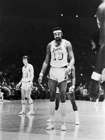 Basketball Star Wilt Chamberlain, Member of the Los Angeles Lakers, 1973