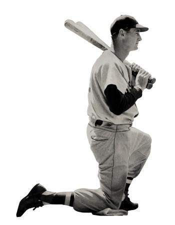 Ted Williams (Kneeling) Boston Red Sox Lifesize Standup