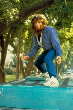 Teen Wolf Surfing on Van Movie Poster