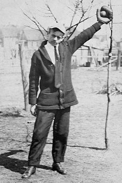 Teenage Boy Plays Catch, Ca. 1912