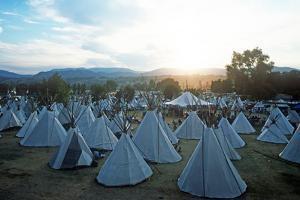 Teepees, Omak Stampede Celebration, Omak, Washington