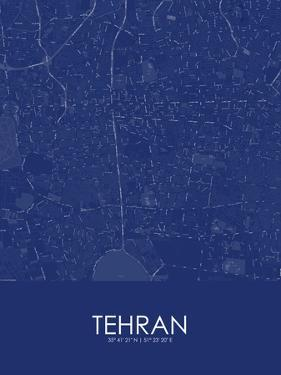 Tehran, Iran, Islamic Republic of Blue Map