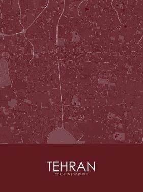 Tehran, Iran, Islamic Republic of Red Map