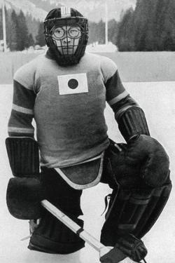 Teiji Homna, Japan Ice Hockey Team, Winter Olympics, Garmisch-Partenkirchen, Germany, 1936