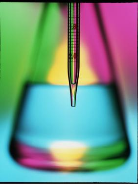 Abstract View of Pipette & Conical Flask by Tek Image