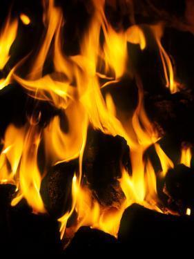 Burning Coal by Tek Image