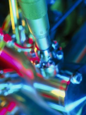 Close-up of Part of a Mass Spectrometer by Tek Image