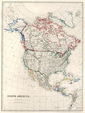 19Th Century Map Of North America by Tektite
