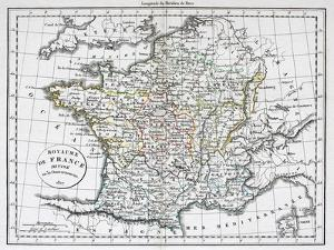 Antique Map Of France by Tektite