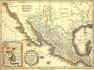 Map Of Mexico Dated 1821 by Tektite