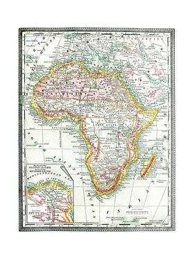 Old Map Of Africa by Tektite