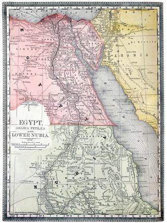 Maps Of Africa Posters At AllPosterscom - Vintage map of egypt