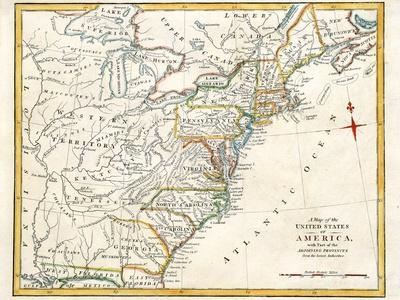 Original Map Of North America
