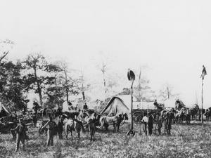 Telegraph Construction Camp During the American Civil War, 1861-1865