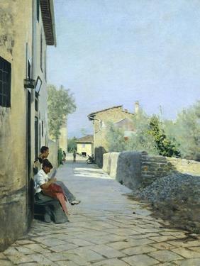 Road to Settignano by Telemaco Signorini