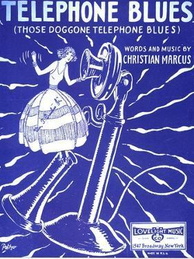 Telephone Blues Sheet Music, USA, 1920
