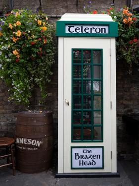 Telephone Kiosk, the Brazen Head Pub, Bridge Street, Dublin City, Ireland