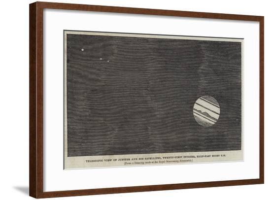 Telescopic View of Jupiter and His Satellites, 21 October, Half-Past Eight Pm--Framed Giclee Print
