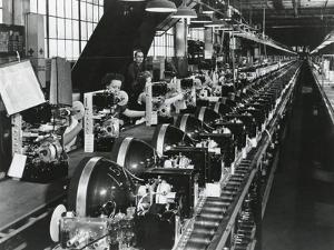 Television Chassis on an Assembly Line with Women Workers in a U.S. Factory. July 1949