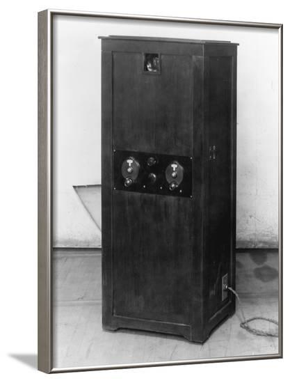 Television Receiver with Sight and Panel--Framed Photographic Print