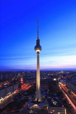 Television Tower on Alexanderplatz Square at Dusk, Berlin, Germany