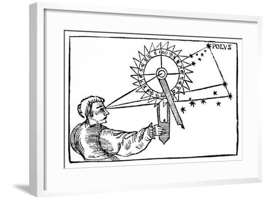 Telling Time at Night Using a Nocturnal, 1539--Framed Giclee Print