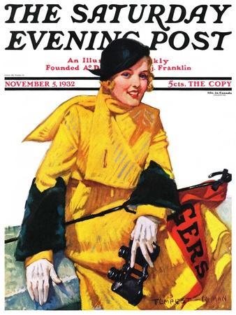 """Football Fan,"" Saturday Evening Post Cover, November 5, 1932"