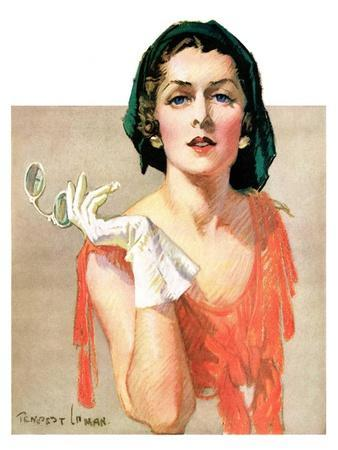 """Woman and Pince Nez,""January 16, 1932"