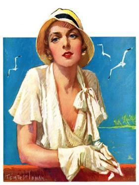 """""""Woman in White,""""June 18, 1932 by Tempest Inman"""